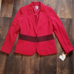 NEW RED BLAZER ANNE KLEIN RED
